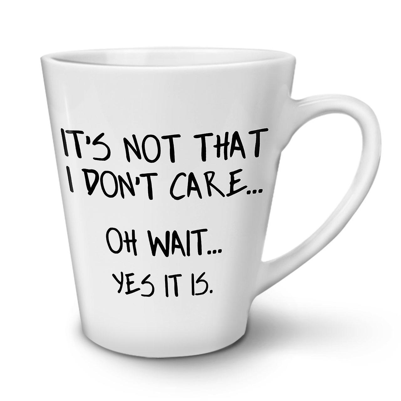OzWellcoda Tasse En Café Blanche Céramique 12 Nouvelle N'aime Latte Pas Je b6ygf7Y