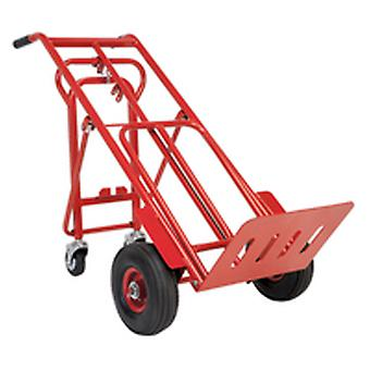 Sealey Cst989 Sack Truck 3-In-1 With Pneumatic Tyre 250Kg Capacity