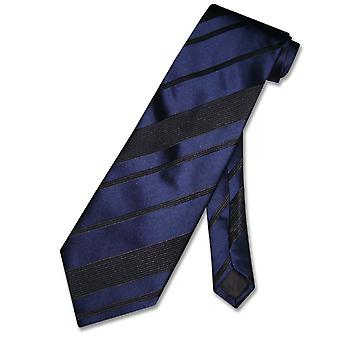 Vesuvio Napoli NeckTie Woven Striped Design Men's Neck Tie