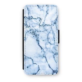 iPhone 5/5 s/SE フリップ ケース - 青い大理石