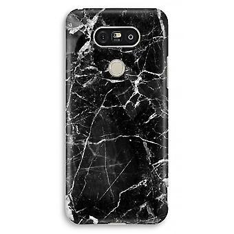 LG G5 Full Print mål - svart marmor 2