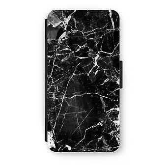 iPhone 8 Plus Flip Case - svart marmor 2