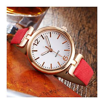 Ladies Clear Dial Petit Quartz Watch With PU Leather Strap VPPINBOPINK1