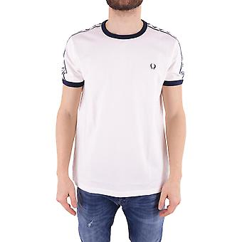 Fred Perry men's FPM634725129 white cotton T-Shirt