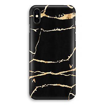 iPhonegeval X volledige Print - goud marmer