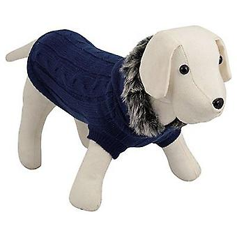 Nayeco Dog hooded sweater Blue 25 cm (Psy , Ubrania dla psów , Swetry i bluzy)