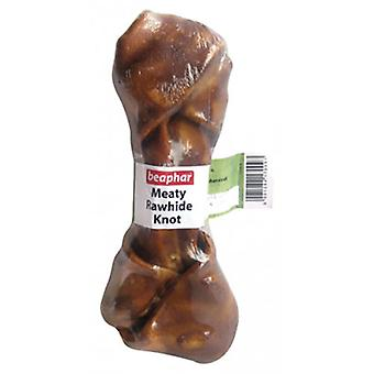 Beaphar Knotted bone with meat flavor (Dogs , Treats , Bones)