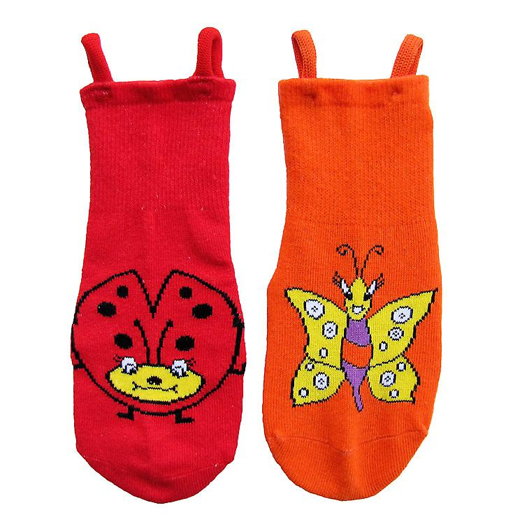 Ladybird & Butterfly EZ SOX Socks - 2 Pairs, 3 to 5 Years