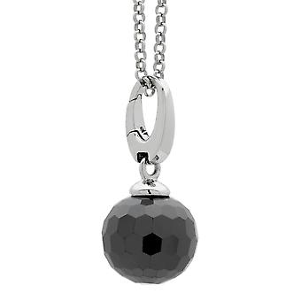 Burgmeister charm disco ball  black zirconia, JHE1073-621,  925 sterling silver rhodanized