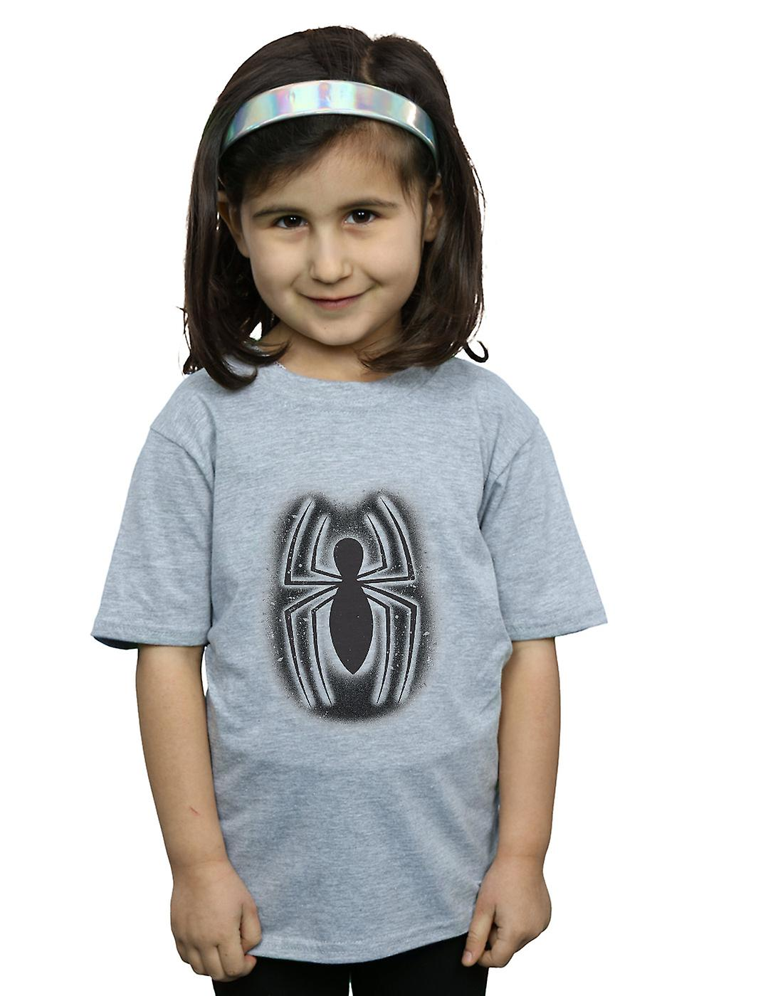 Filles de Marvel Spider-Man Graffiti Logo T-Shirt