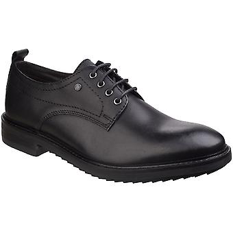 Base London Mens Elba Waxy Derby Leather Lace Up Smart Oxford Shoes