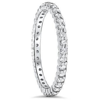 1 / 2CT Diamond Eternity Ring 10k witgoud