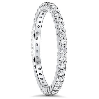 1/2CT Diamond Eternity Ring 10k White Gold