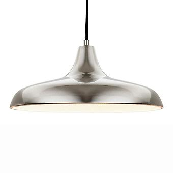Firstlight Curtis Slimline Pendant In A Brushed Steel Finish