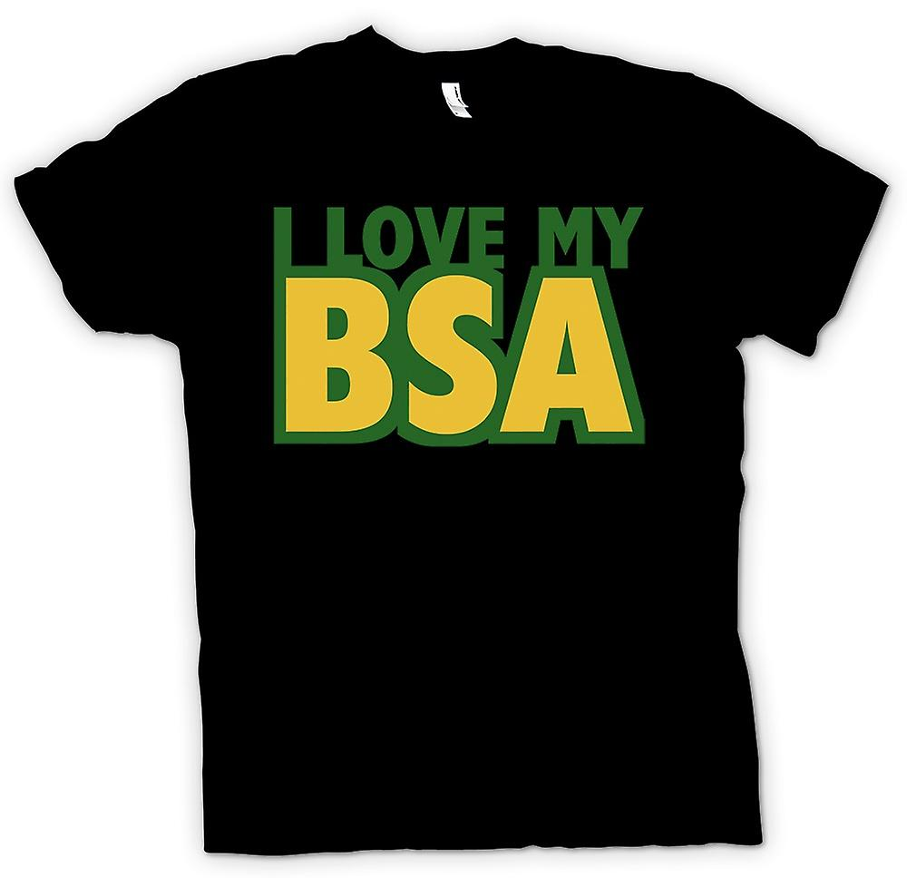 Womens T-shirt -  I Love My Bsa - Motorcycle - Biker