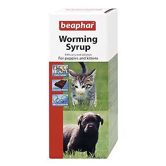 Beaphar avmaskningstabletter sirap för valpar, kattungar, hundar, katter mask behandling