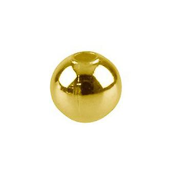 Packet 400+ Golden Iron 4mm Round Spacer Beads HA02040