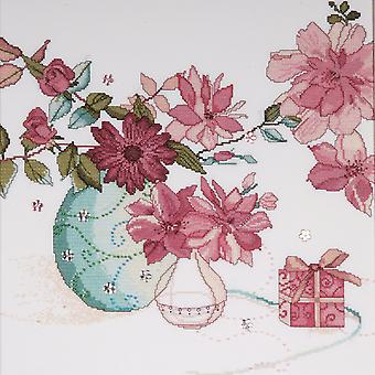 Pastel Floral Counted Cross Stitch Kit-15
