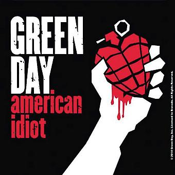 Green Day Coaster American Idiot new Official 9.5 x 9.5cm Cork single drink