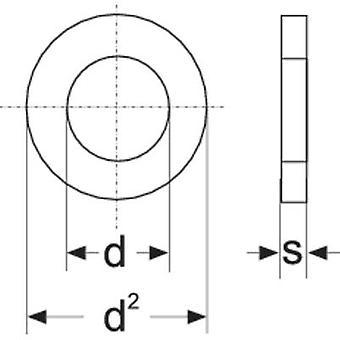 TOOLCRAFT A3, 2 D125-A2 194694 Scheiben innen Durchmesser: 3,2 mm M3 Edelstahl A2 100 PC