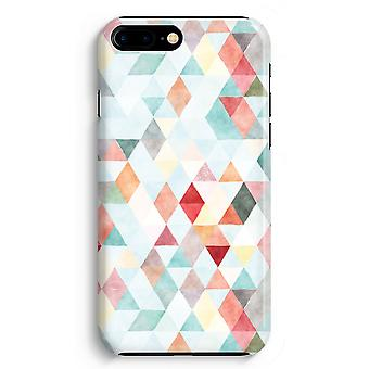 iPhone 8 Plus Full Print Case (Glossy) - Coloured triangles pastel