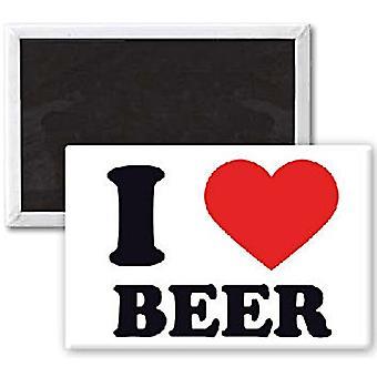 I Love Beer Funny Fridge Magnet