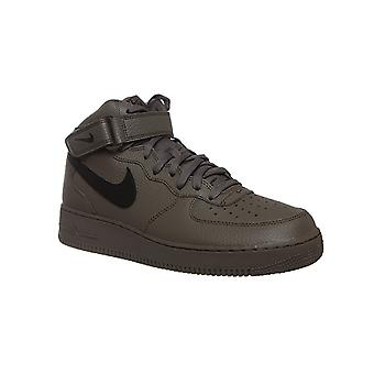 NIKE air force 1 mid ' 07 real leather sneaker sneakers Brown