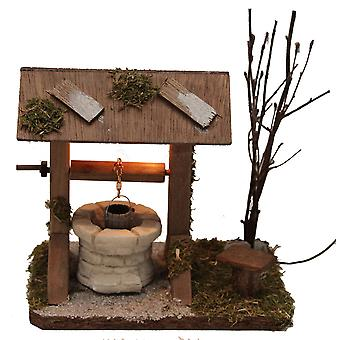 Take fountain illuminated Nativity stable Nativity accessory for crib