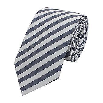 Tie tie tie tie narrow 6cm grey/white striped Fabio Farini