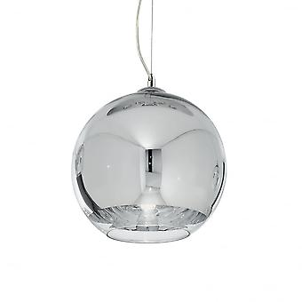 Ideal Lux Discovery Chrome Single Pendant Light D20