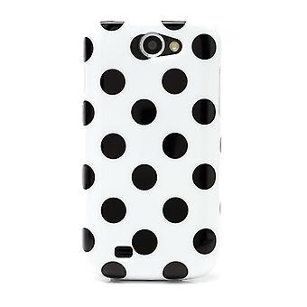 Housse de protection pour mobile Samsung Galaxy GT I8150 White W / Black