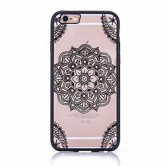 Mobiele zaak mandala voor Apple iPhone 8 plus ontwerp gevaldekking van het motief van Indiase bovenklep bumper zwart