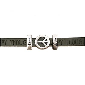 Women - bracelet - peace - peace - WISHES - grey - anthracite - magnetic lock - faith - love