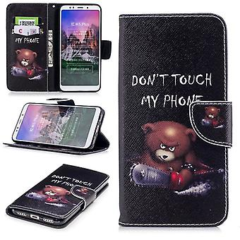 For Huawei P smart plus / Nova 3i leatherette bag book motif 30 protection sleeve case cover pouch new