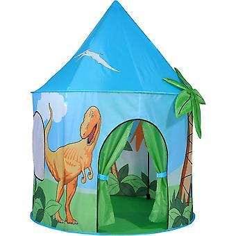 空气儿童王国的精神弹出恐龙玩帐篷