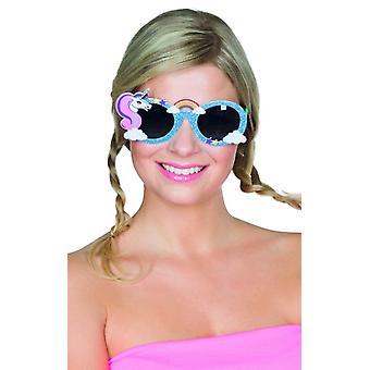 Gafas de Unicornio Azul accesorios arco iris carnaval carnaval