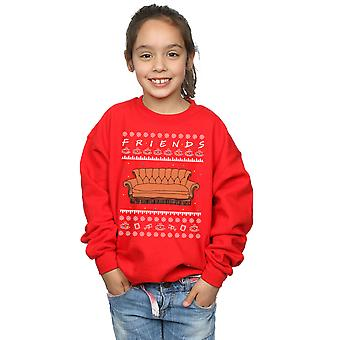 Friends Girls Fair Isle Couch Sweatshirt