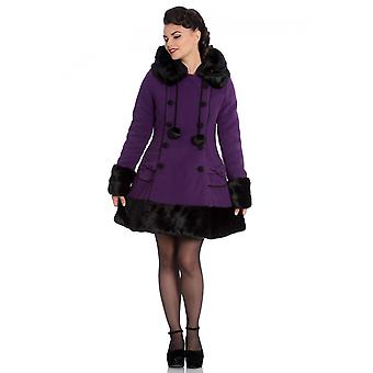 Hell Bunny Purple Sarah Jane Coat XXL