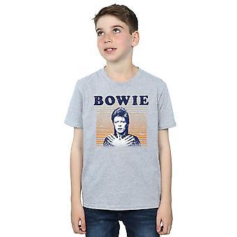David Bowie gutter oransje striper t-skjorte