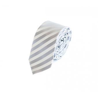 Krawat krawat krawat krawat 6cm szary srebrny biały w paski Fabio Farini