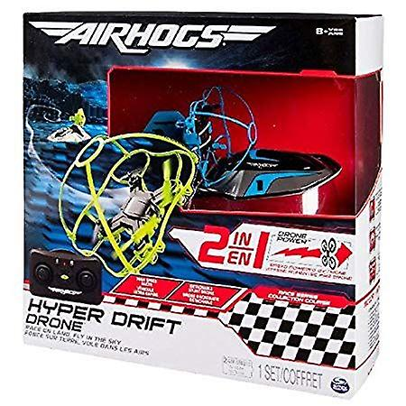 Air Hogs 2-in-1 Hyper Drift Drone for Kids Capable of High Speed Racing and Flying - Blue