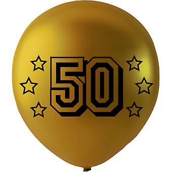 6-p. Ballons Familien M. Text 50-30 cm (12