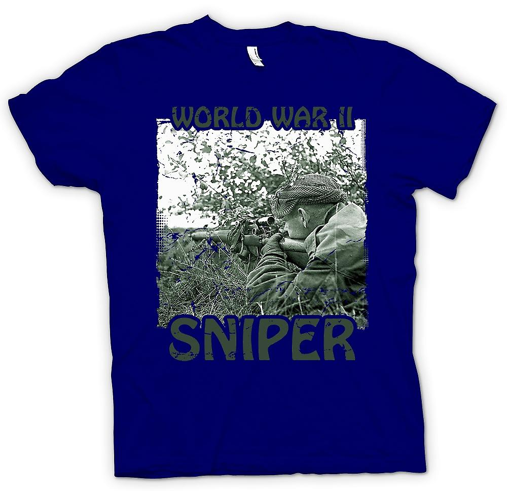 Mens T-shirt - World War 2 Sniper - infanterie