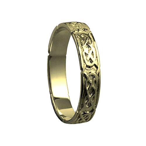 18ct Gold 4mm Celtic Wedding Ring Size T