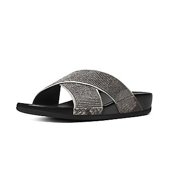 FitFlop Aix Crystal Crossover Slide Women's Sandals