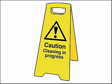 Scan Caution Cleaning In Progress Heavy-Duty A Board