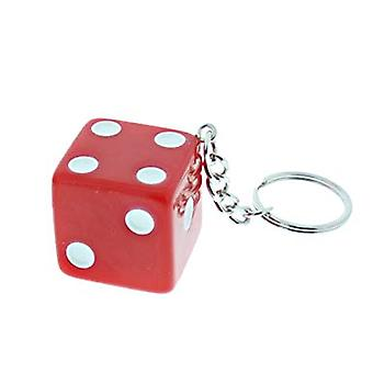 Keychain/Key Chain With Dice (Red)