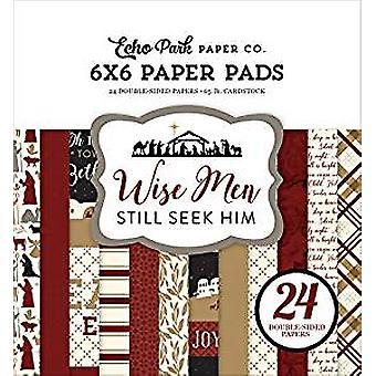 Echo Park Paper Wise Men 6x6 Inch Paper Pad (WM137023)