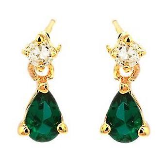 Ah! Bijoux émeraude poire cristaux de Swarovski boucles d'oreilles