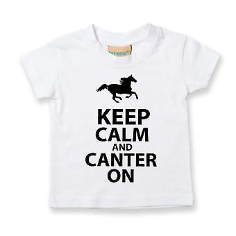Kids Keep Calm And Canter On Tshirt